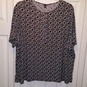 Dana Buchman Women Print Tunic-XL